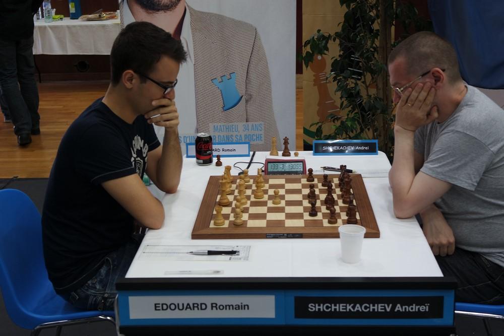 Romain Edouard contre Andrei Shchekachev