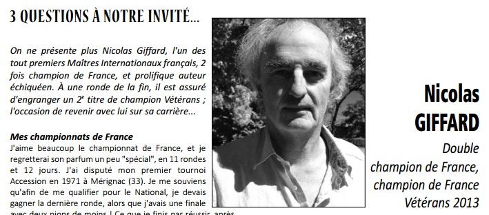 Cliquez pour lire l'interview de Nicolas Giffard