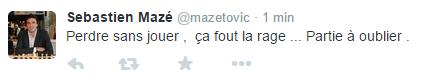 Sébastien Mazé n'était pas satisfait de sa partie d'hier. Il va tenter aujourd'hui re se relancer contre Jules Moussard.